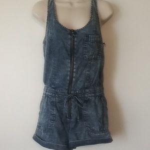 NWT Forever 21 blue jean jumpsuit Romper